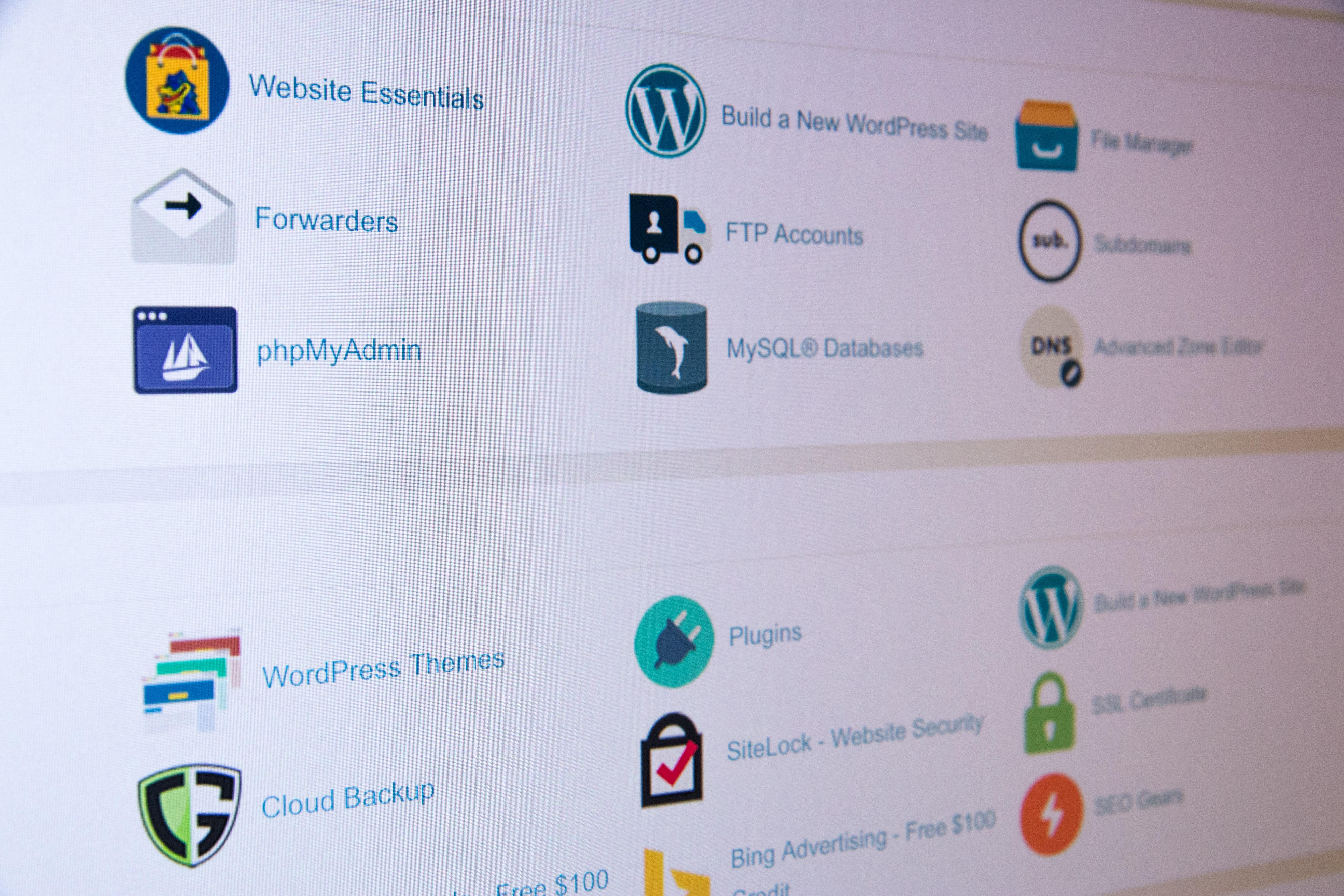 Free Shared Web Hosting for the first year Website Design